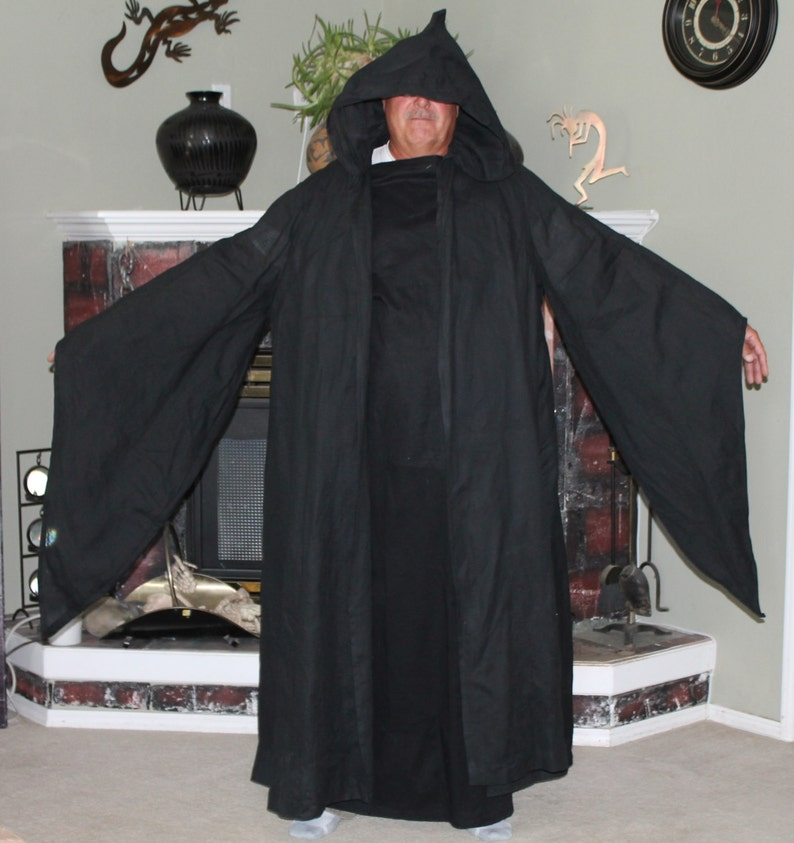 Grim Reaper Costume, Death, Reeper, Spooky, Black Robe, Cape, Halloween,  Plus Size, Big Tall Men, Cosplay, Star Warrior, Plus, Hearse, Dark