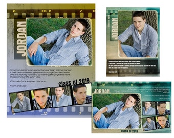 Seniors Yearbook Ads Templates Michelle | Etsy