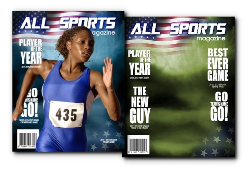 All Sports Magazine Cover Template Etsy