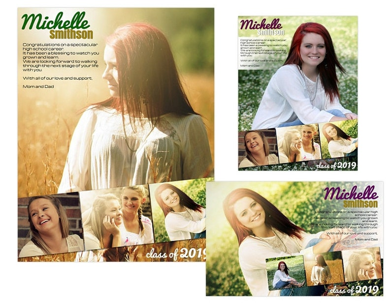 Seniors Yearbook Ads Templates - Michelle