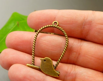 c95f0d6ce 40 Bronze Canary bird Charms Pendant - Jewelry Making Charms Wholesale Lot  - MC1005