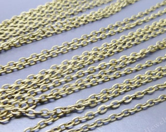 BULK - 12 Antique Bronze Chain with lobster clasp - 18 inches long -  Jewelry Making Findings Necklace Wholesale -CH014