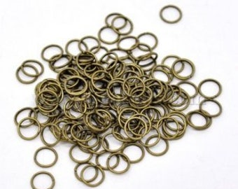 200 pc Bronze Tone open rings - Bronze Tone jumprings - Bronze Tone Findings - 6mm - Jewelry making supplies -OR02