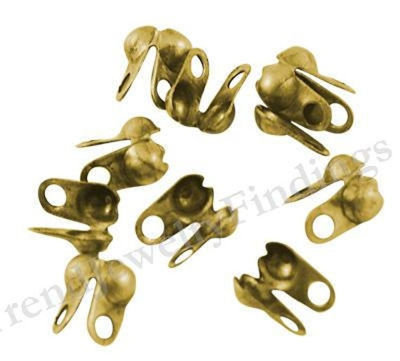 Side Clamps with double loop Jewelry Making Supplies- TR079 Gunmetal Findings 100 Black Gunmetal Crimp Bead Tips