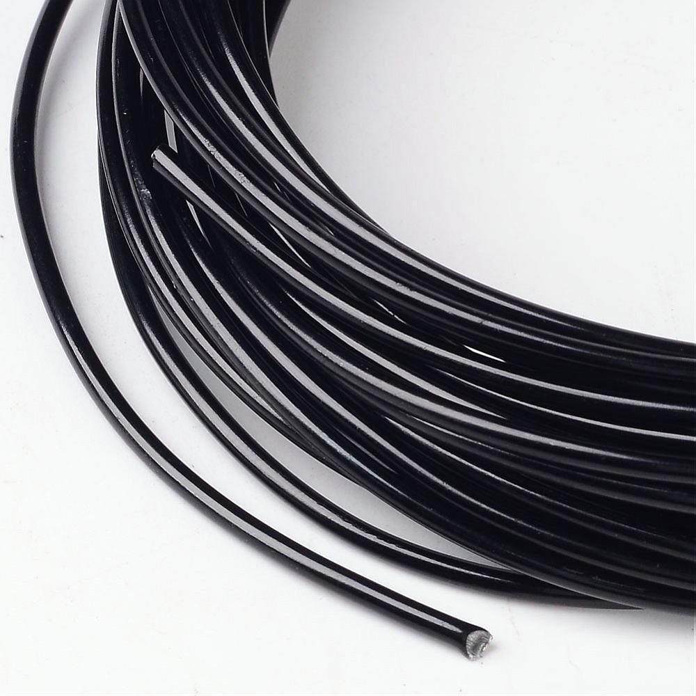 Black Jewelry Making Wire - Anodized Aluminum Wire - 2mm -12 gauge ...