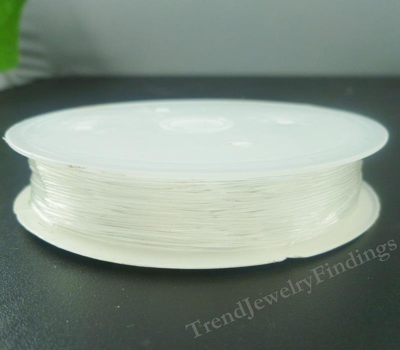 Clear Stretch Cord  Elastic Cord   0.6 mm  thick  8 meters image 0