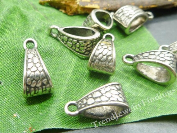 10 Bails antique silver tone FS52