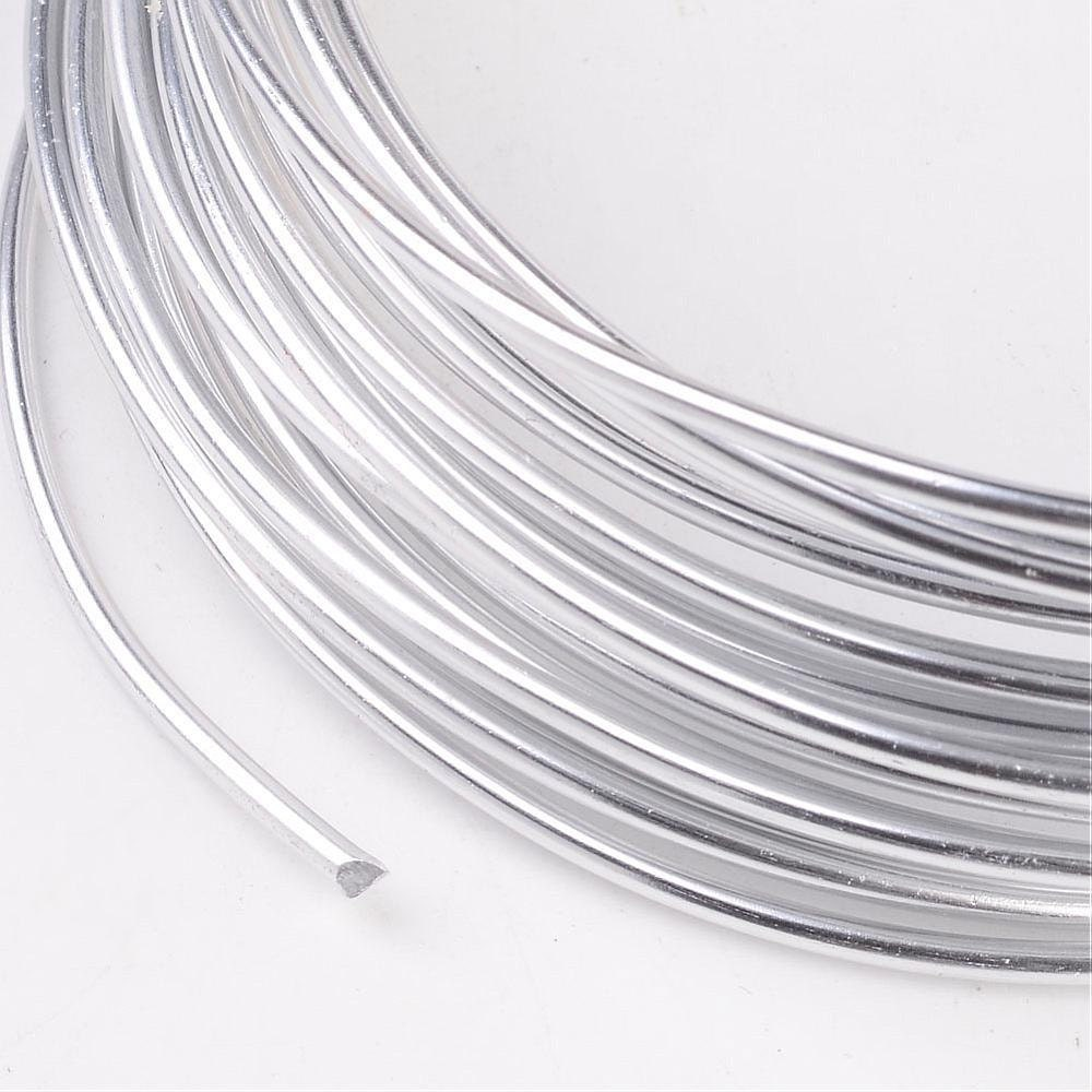 Silver Wire - Anodized Aluminum Wrapping Jewelry Making Wire - 1.5mm ...