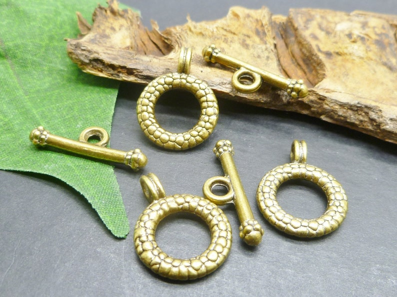 BULK  12 sets Antique Bronze Tone Toggle Clasps  Perfect for image 0