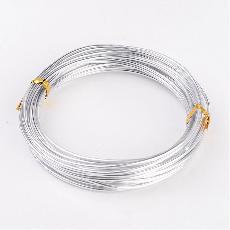 Silver Round Aluminum Wire  Wrapping Jewelry Making Wire  image 0