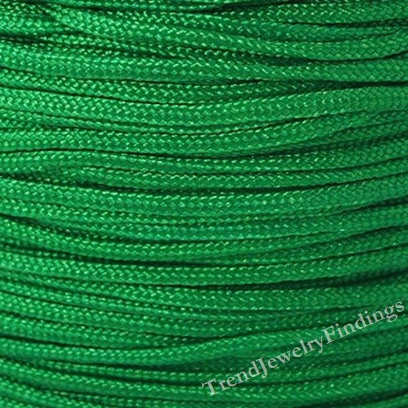 1.5mm Green Nylon Cord  Chinese Knotting Cord  Shamballa image 0