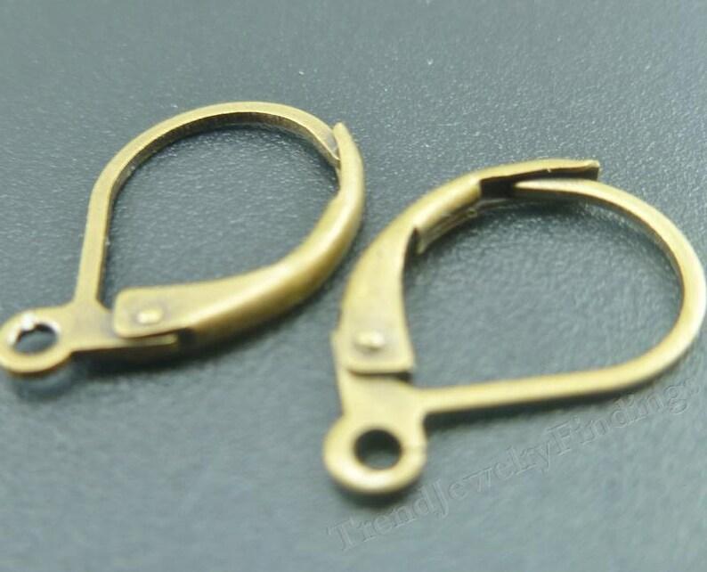 24 pcs Bronze Tone Leverback Earwire   Earrings Findings  image 0