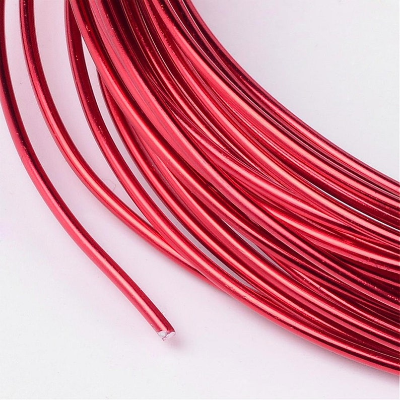 Red Aluminum Anodized Wire  Jewelry Making Wire roll  15 image 0