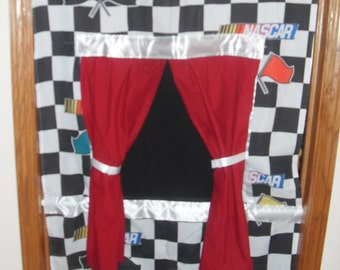 FREE SHIPPING Doorway Puppet Theater NASCAR themed