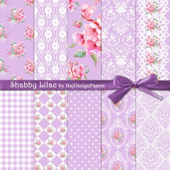 shabby chic digital paper shabby lilac purple etsy rh etsy com shabby chic purple and white cabinet shabby chic purple dresser lamp sets