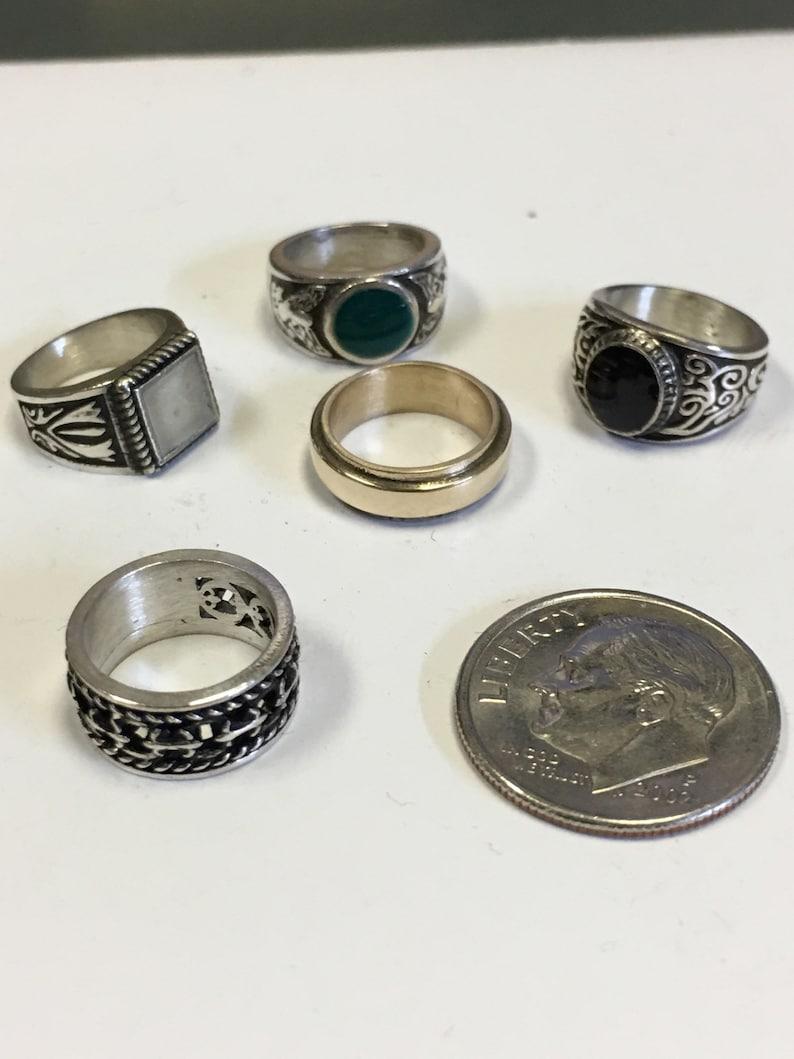 supernatural inspired  MINI  set of horsemen rings