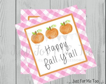Fall Printable Tags, Instant Download, Fall Tags, Pumpkin Gift Tags, Birthday, Lunchbox, Pumpkin, Printables, Girls