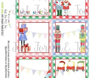 Christmas Printable Tags, Instant Download, Christmas Tags, Square Gift Tags, Merry Christmas, Blank Christmas Tag, Gift Tag
