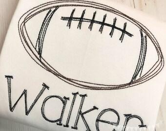 Personalized Football Stitch Shirt, Football Shirt, Football Applique, Personalized Football Shirt, Vintage stitch Football, Sports Shirt