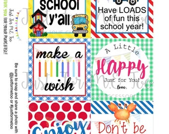 July Bundle Printable Tag Bundle, Digital Tags, Gift Tag, Summer Tag, Pintable, Download, Gift Tags, School, Birthday, Enjoy, Digital Tag