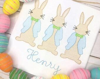 Boys Easter trio Scribble Stitch Shirt