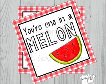Instant Download Printable Watermelon Tag, Summer Party Tag, Watermelon Printable, Gift, Fruit Tag, Instant Download, Summer