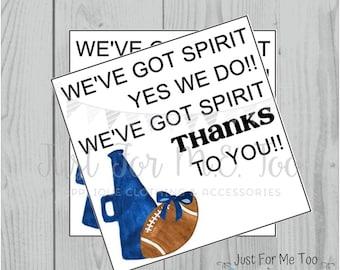 Football Printable Tags, Spirit Tags, Instant Download, School Tags, Cheerleading Tags, Cheerleader, Football