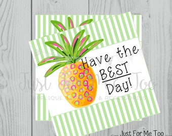 Instant Download Printable Pineapple Tag, Summer Party Tag, Pineapple Printable, Pool Party Tag, Gift, Instant Download