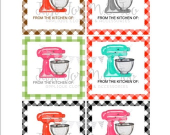 Kitchen Printable Tags, From the Kitchen, Instant Download, Leftovers Tags, Teacher Tags, Lunchbox Note, Baking Tag