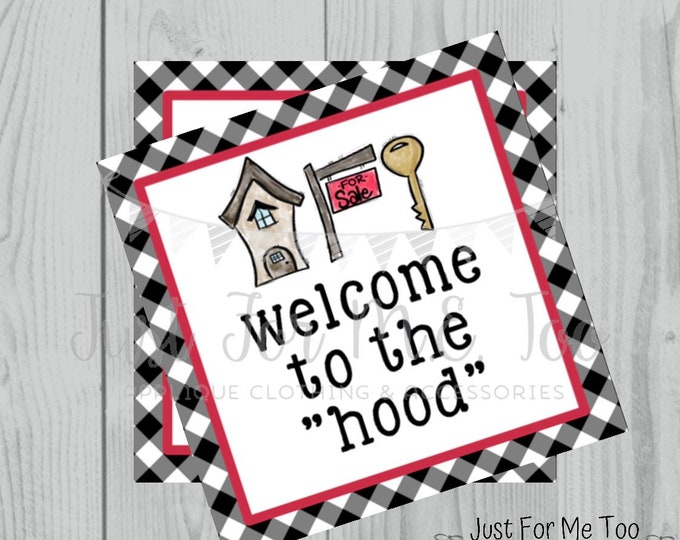 Featured listing image: Welcome to the Neighborhood  Printable Tags, Instant Download, New Neighbor Tag, Square Tag, Printable