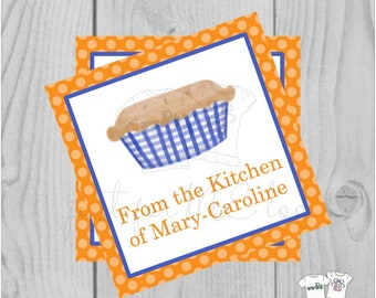 Personalized Baking Gift Tag, Personalized Tag, Pie Gift Tag, From the Kitchen Tag, Personalize, Baking, Bake Sale