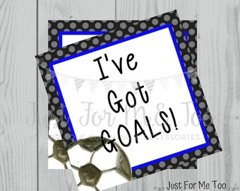 Soccer Printable Tags, I've Got Goals, Instant Download, School Tags, Cheerleading Tags, Cheerleader, Soccer