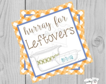 Thanksgiving Printable Tags, Instant Download, Fall Tags, Leftovers Tags, Printable, Baking, Thanksgiving, To Go Meal, take out