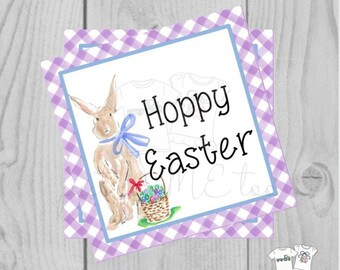 Easter Bunny Printable Tags, Instant Download, Easter Tags, Square Gift Tags, Teacher Tag, Hoppy Easter Tag, Treats, School, Bunny, Easter