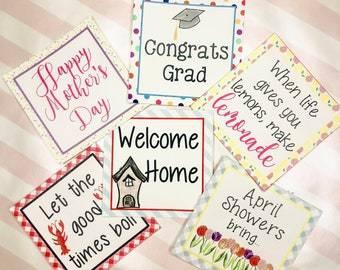 April Bundle Printable Tag Bundle, Digital Tags, Gift Tag, Sunshine Tag, Pintable, Download, Gift Tags, Congrats, Welcome Home, Flowers