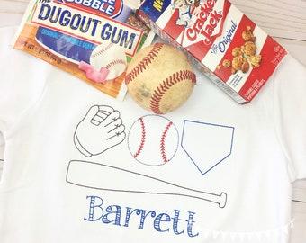 Personalized Boys Baseball Shirt