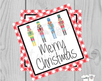 Christmas Printable Tags, Instant Download, Christmas Tags, Square Gift Tags, Merry Christmas, Nutcracker Tag, Ballet, Nutcracker, Dance