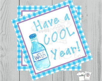 Instant Download Printable Tags,Have a Cool Year, School Tag, Classroom Tag, Lunchbox Note, Water Bottle Tag
