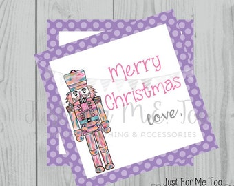 Christmas Printable Tags, Instant Download, Christmas Tags, Square Gift Tags, Merry Christmas, Nutcracker Tag, Ballet, Nutcracker, Dance