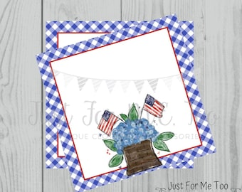Instant Download Printable 4th of July Tag, Flag Tag, July 4th Printable, Flag Tags, Blank Printables, Blank Gift tags