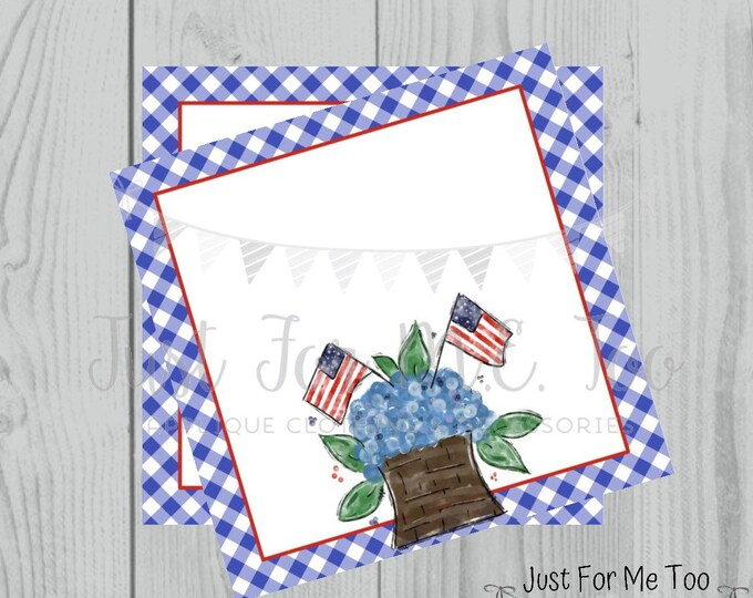 Featured listing image: Instant Download Printable 4th of July Tag, Flag Tag, July 4th Printable, Flag Tags, Blank Printables, Blank Gift tags