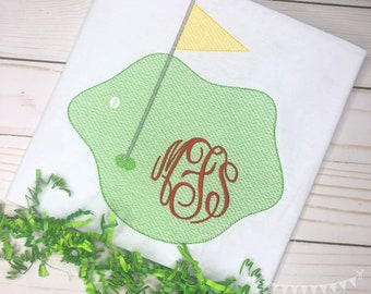 Personalized Golf Stitch Shirt, Golf Shirt, Golf Applique, Personalized Golf Shirt, Vintage stitch Golf, Golf Green Shirt, Girls