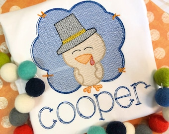 Personalized Turkey Sketch Stitch Shirt, Fall Shirt, Turkey Applique, Personalized Turkey Shirt, Vintage stitch Turkey, Boys, Thanksgiving
