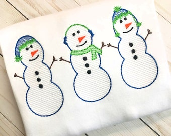 Personalized Snowman Shirt, Winter Applique, Snowman Applique, Boy Snowman