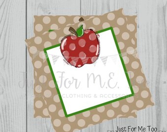 Apple Printable Tags, Blank Apple Tags, Instant Download, Fall Tags, Teacher Tags, Lunchbox Note, Student Tag