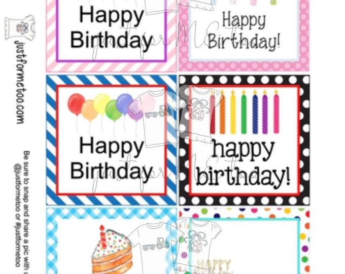 Featured listing image: Happy Birthday Bundle Digital Tags, Printable Party Tags, Birthday Printable, Happiness Tags, Birthday Tags, Gift Tags, Party Tags