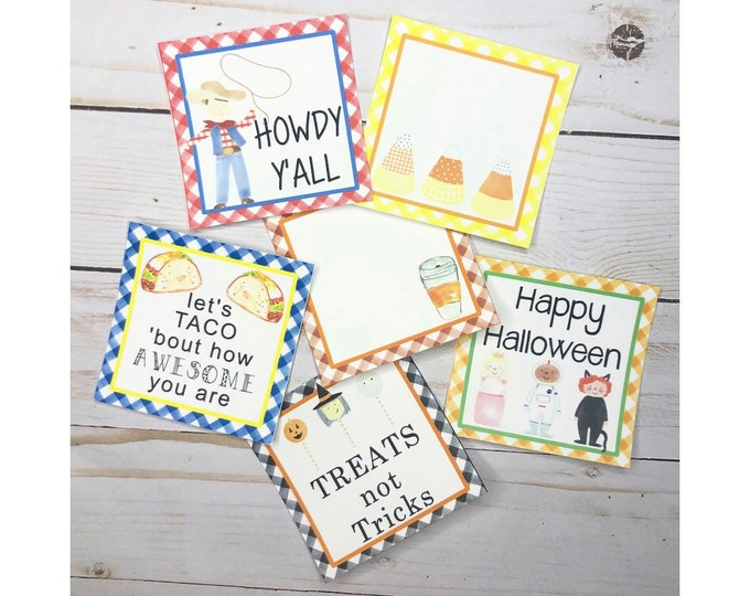 Featured listing image: October Bundle Printable Tag Bundle, October Tags, Halloween Tag, Taco Tag