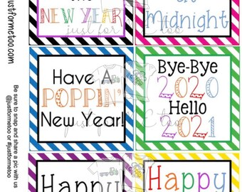 New Years Digital Tags