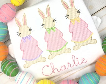 Easter trio Scribble Stitch Shirt