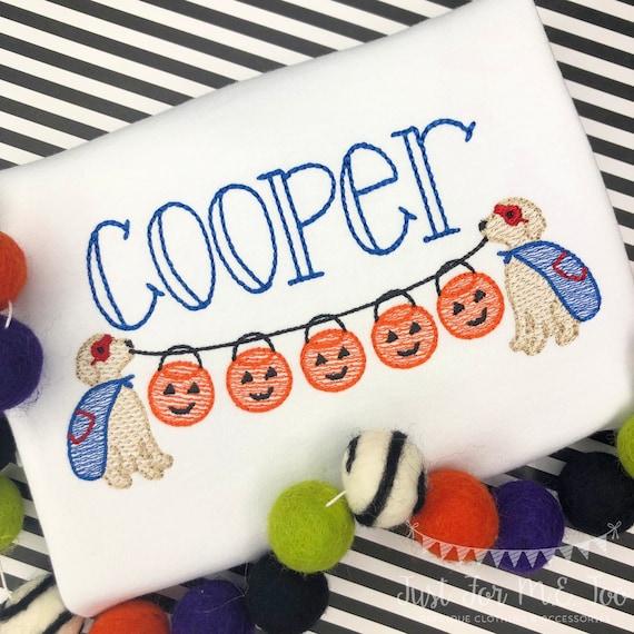 Personalized Halloween Super Hero Dog Stitch Shirt, Fall Shirt, Pumpkin, Personalized Hero Dog Shirt, Sketch stitch Dog, Jack-O-Lantern